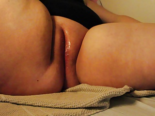 Huge dildo and orgasms
