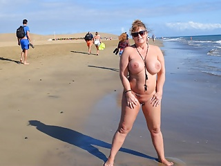 Big Boobs Public Nudity Beach video: Maspalomas-Holidays 2017