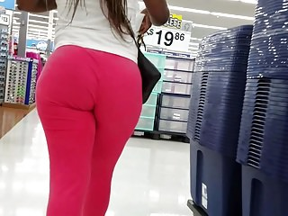Big black ass walking in tight sweatpants nice jiggle