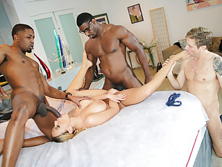 Big Boobs Cuckold Threesomes video: Olivia Austin Interracial Threesome - Cuckold Sessions