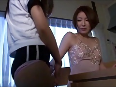 Joshi Kousei - Lesbian on the table pussy licking (censored)