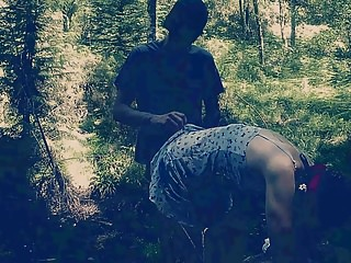 Bdsm Spanking Bondage video: Spanking in the Forest