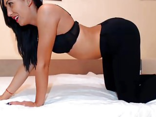Sexy Girl in Tight Leggings