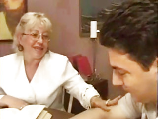 Porno video: Granny Teacher Flirts With Her Student