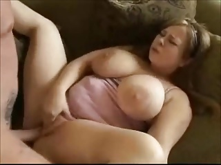 Hot Fat BBW Teen with Big tits fucked on the couch