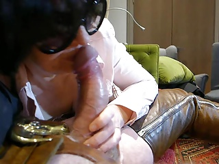 Hot Milf in thigh boots flashing and blowjob part 2
