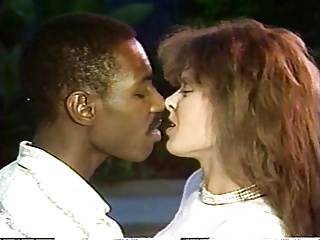 Interracial Vintage video: Aja with lover