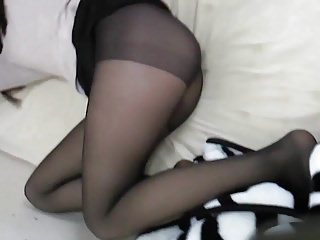 Korean Girl want to be fucked - Nylon Stockings