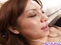 Sexy Asian doll Asahi Miura is stripped and ravished by her
