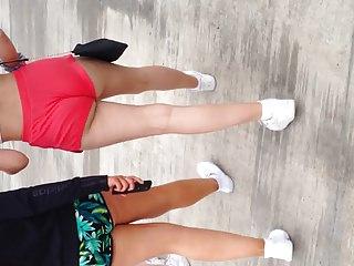Teen ass in short shorts.