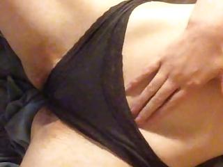 Rubbing myself over my panties