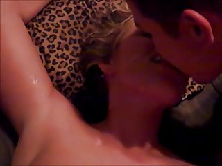 Cuckold Threesomes Wife Sharing video: sloppy cum kiss and more...