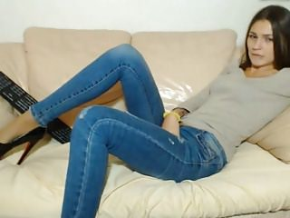 Jeans,Masturbation,Stocking,Thong,Vibrator,Voyeur,Webcam
