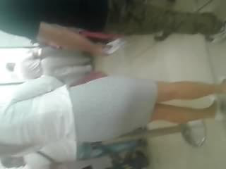 Sexy blonde MILF hot legs and high heels