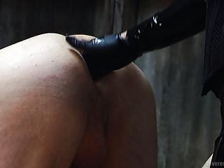 Femdom Latex Strapon video: Femdom Strapon PPommeling