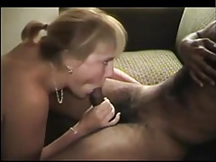 Blonde milf pleases two bbcs