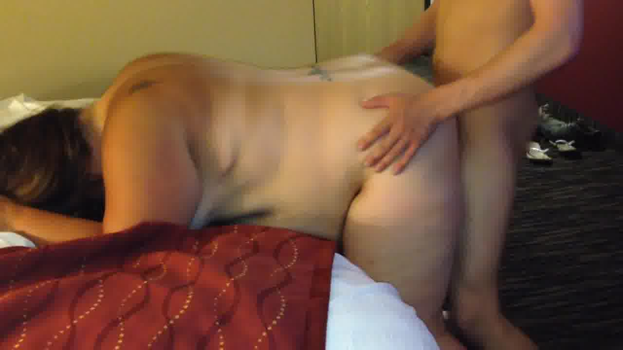 Wife with a young stud in hotel