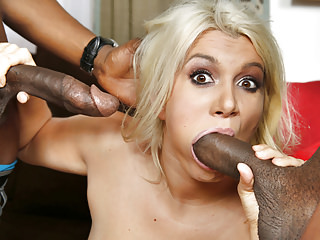 Interracial Double Penetration Blacks On Blondes video: Layla Price Double Penetrated by Big Black Cocks