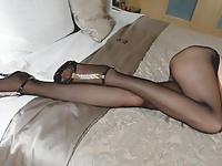 nylon stockings footjob movie