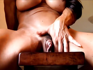 Matures Milfs video: Muscular milf with a giant clitoris