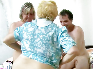 Hairy Oldyoung Bbw video: Fat Granny Has Threesome Sex
