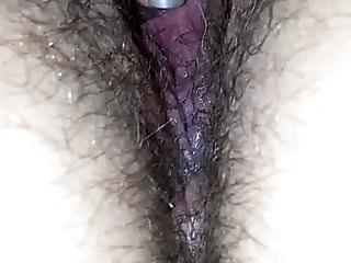 Nude wife rubbing pussy in window