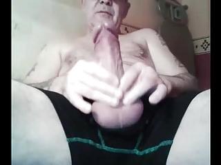 grandpa big cock stroke on cam
