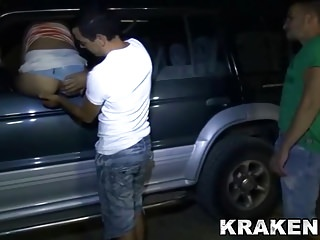 Outdoor Dogging Wife Sharing video: Krakenhot - Dogging Outdoor with a Mature sex in public