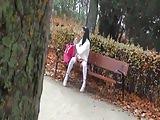 Krakenhot - Young Schoolgirl showning in public. Voyeur
