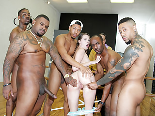 Gangbang Interracial Big Cock video: Zoey Laine Gets Her Pussy Destroyed In Front Of Her Stepdad
