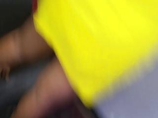 Milfs Upskirts Hidden Cams video: Quick Black milf upskirt