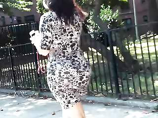 Latin Voyeur video: Big Jiggly Bubble Ass Tight Dress (Long Follow)