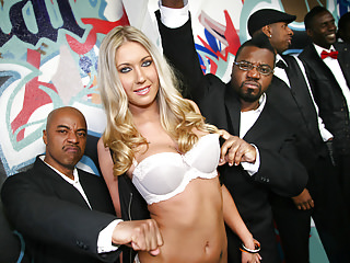Gangbang Interracial Black video: Alysha Rylee Ganbanged By 10 Black Cocks