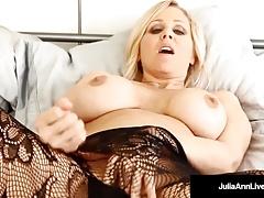 Masturbating Milf Julia Ann, plays in different Lingerie!