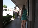 SEX GODDESS FLASH LOT OF ASS AT MOTEL NO PANTIES