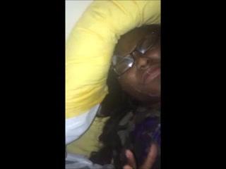 bbw black women receives a huge facial