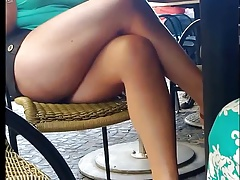 Upskirt on train hidden cam voyeur 6