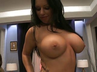 Blowjobs Big Boobs Threesomes video: Pretty Kerry Louise wants to experiment with more than one cock