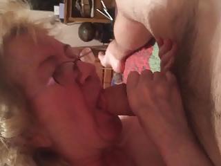 Granny sucks a big dick