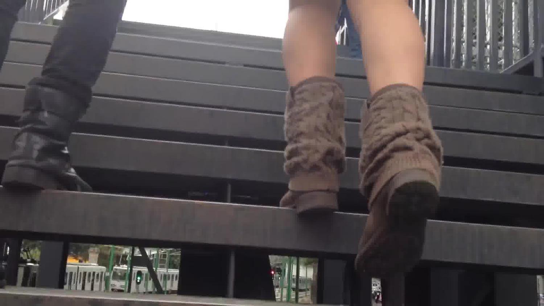 Perfect legs teen in short dress