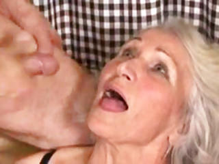Hairy Oldyoung Grannies video: Busty Granny Takes Young Cock
