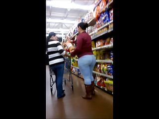 Latina with a phat ass wearing tight jeans.