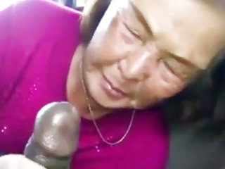 Matures Oldyoung Asian video: Asian Granny Sucks Black Cock In The Car