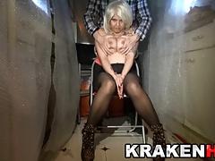 Krakenhot - Amateur BDSM casting with a hot blonde milf
