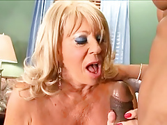 Busty Granny Takes BBC Anal