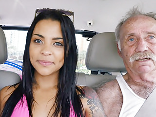 Oldyoung Threesomes Latin video: Nikki Kay Has Threesome Sex With Grandpas