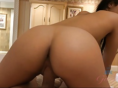 Maya Bijou Rides Cock and Gets a Creampie