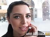 Wapxtube.com Kira Queens giving a footjob in public