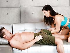 Awkward boner during massage