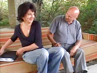 Anal Matures video: Grandma Outdoor Anal Fucking